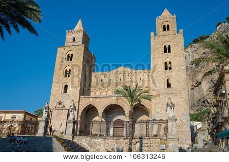 Cathedral Basilica Of Cefalu, Sicily. Italy.