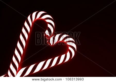 Heart from candy canes