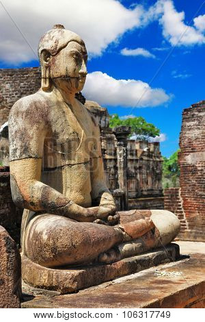 Buddha in Polonnaruwa temple - medieval capital of Ceylon,UNESCO