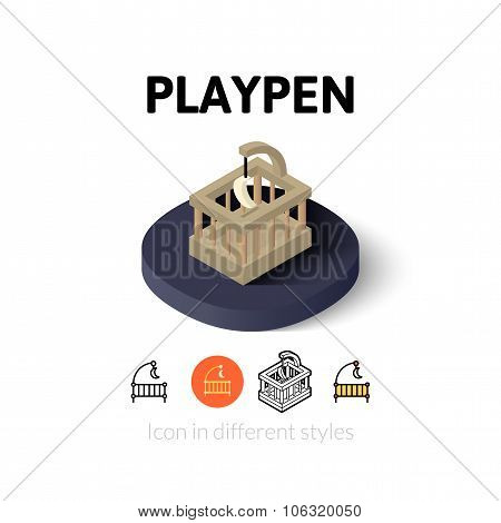 Playpen icon in different style