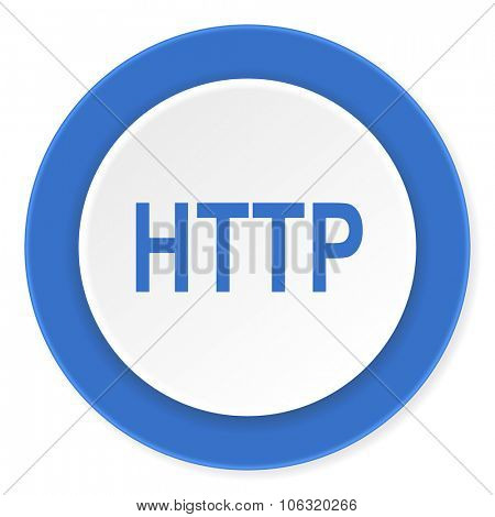 http blue circle 3d modern design flat icon on white background