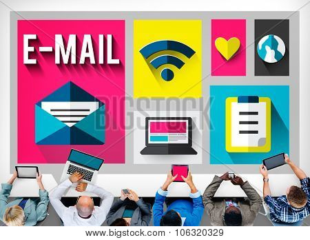 Email Message Send Connection Communication Concept