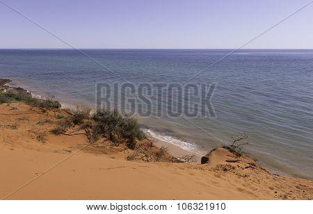 Red Sandy Beach at Cape Peron
