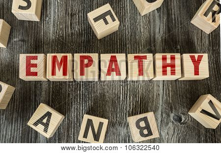 Wooden Blocks with the text: Empathy