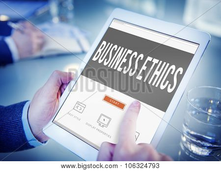 Business Ethics Honesty Ideology Responsibility Strategy Concept