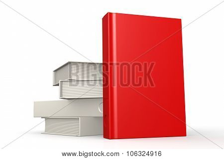Stack Of Books Red Isolated