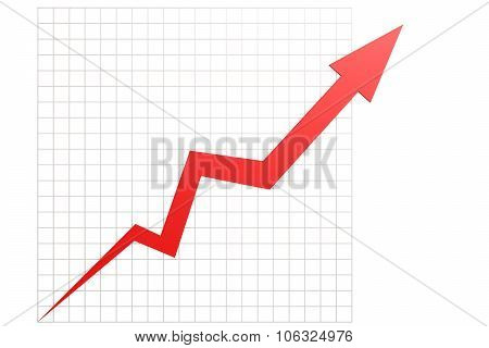 Red Graph In Chart Table