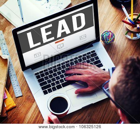 Lead Leadership Director Coach Boss Concept