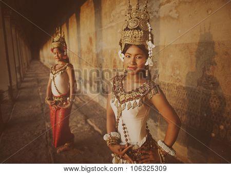 Traditional Aspara Dancers Siem Reap Concept