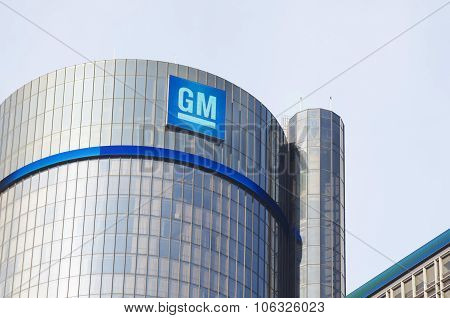 GM Headquarters Tower Downtown Detroit