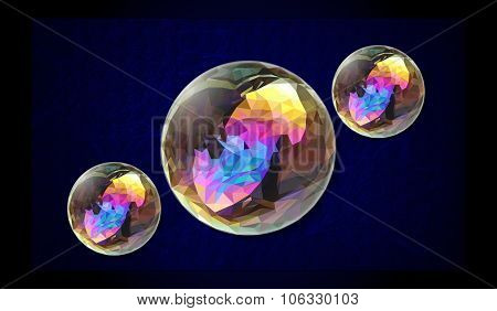low poli abstract background circle