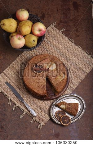Charlotte With Apples And Cinnamon