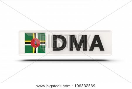Square Icon With Flag Of Dominica