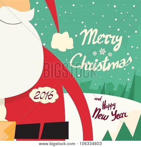 Santa Beard Merry Christmas Happy New Year