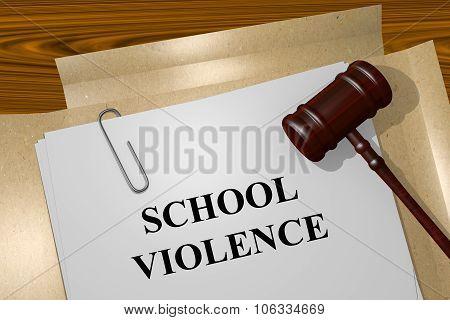 School Violence Concept