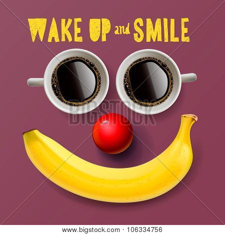 Wake up and smile, motivation background