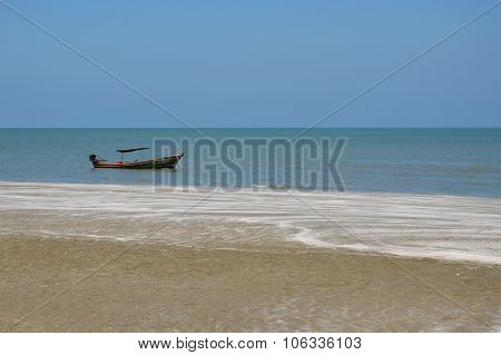 fishery boat at the beach