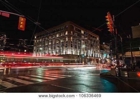 Roads In Toronto At Night