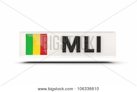Square Icon With Flag Of Mali