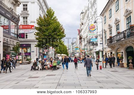 Tourists On Karntner Strasse, Vienna