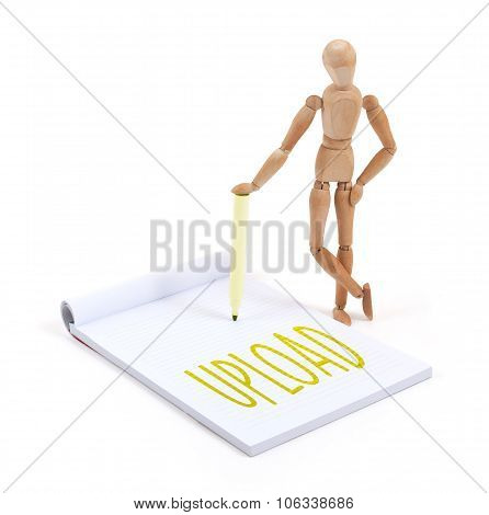 Wooden Mannequin Writing - Upload