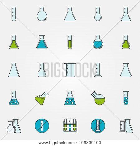 Test-tube icons set