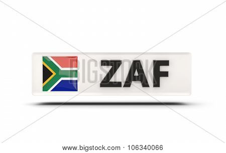 Square Icon With Flag Of South Africa
