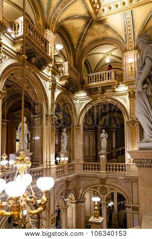 Indoor Decoration Of Vienna State Opera House