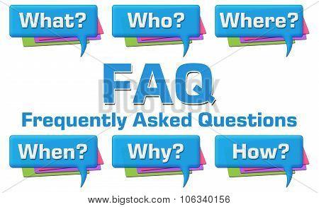FAQ With Questions Comment Symbols