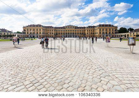 Schloss Schonbrunn Palace From Entrance, Vienna