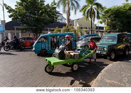 Morning Traffic On Manado Street