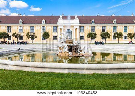 Fountain In Schloss Schonbrunn Palace Garden