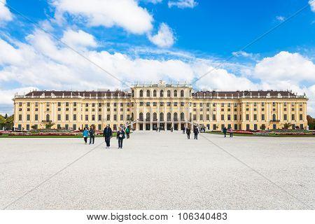 People Near Schloss Schonbrunn Palace, Vienna