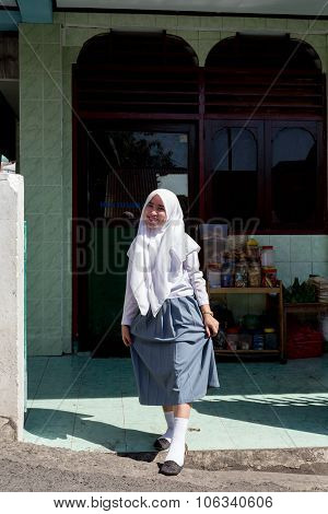 Young Happy Muslim Teenager Woman