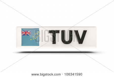 Square Icon With Flag Of Tuvalu