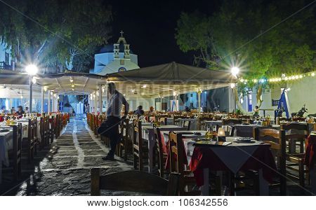 Chora By Night, Mykonos, Greece