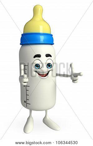 Baby Bottle Character Is Happy