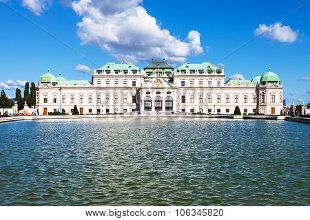 Pool And View Of Upper Belvedere Palace, Vienna