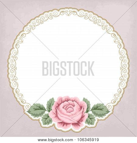 Retro Background With Roses
