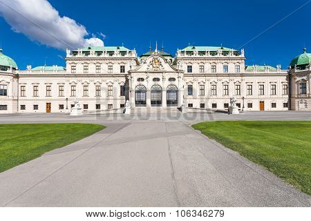 Front View Of Upper Belvedere Palace, Vienna