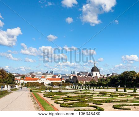 Park Of Belvedere Palaces, Vienna, Austria