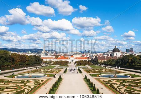 Square Of Belvedere Palaces, Vienna, Austria