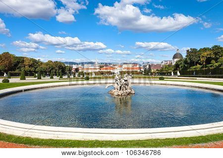 Lower Cascade Fountain In Belvedere Garden, Vienna