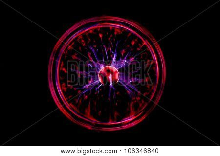 Plasma Ball With Black Background Texture And Backgrounds