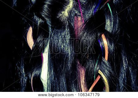 Hair With Colorful Strands