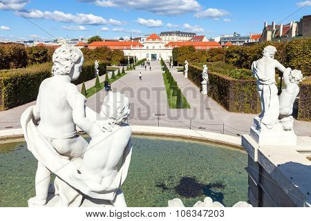 View Of Lower Belvedere Palace From Lower Cascade