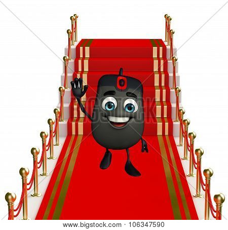 Computer Mouse Character On The Red Carpet