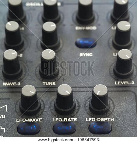 Control Knobs Of Synthesizer