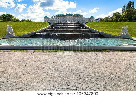 Upper Cascade In Belvedere Garden, Vienna