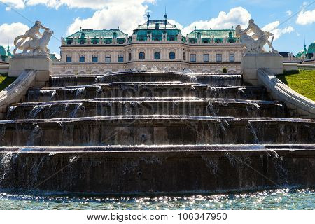 Upper Fountain Cascade And Upper Belvedere Palace